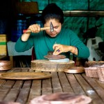 This entire village hammered copper bowls and plates as a source of income.