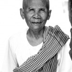 An elder at a temple.